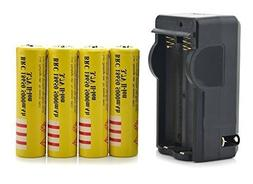 STAND HIGH® 3.7V 18650 4PCS 5000mah Rechargeable Protected