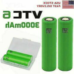 18650 VTC6 Lithium Battery 3000mAh High Drain 30A Rechargeab