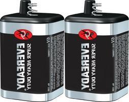 2 Eveready 1209 Zinc-Carbon Super Heavy Duty Lantern 6 Volts