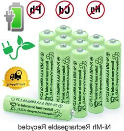 2-16Pcs Rechargeable AAA Batteries Ni-MH 600mAh Battery & Ge