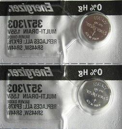 2 Energizer 357 303 EPX76 SR44SW AG13 LR44 D357H 228 J 280-6