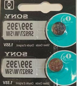 2- Sony 395/399 SR927SW Silver Oxide Exp. 8/22 USA Free Ship