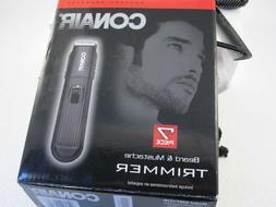 Conair  2 Blade Beard, Mustache Trimmer BATTERY OPERATED NIB