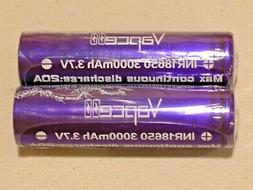 2 BUTTON TOP VAPCELL INR 18650 HIGH DRAIN RECHARGEABLE 20A B