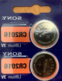 2- CR 2016 Sony 2016 LITHIUM BATTERIES 3V Watch Exp.2029 Aut
