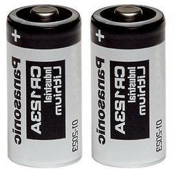 2 Panasonic CR123A 123A 123 Industrial Lithium Batteries