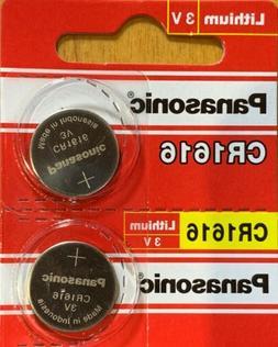 2 Panasonic CR1616 ECR 1616 Battery 3V Authorized seller. Ex