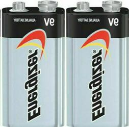 2 Energizer Max 9V 9 Volt E522 Alkaline Batteries