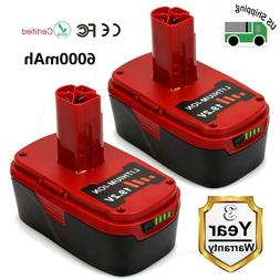2 Pack 19.2V 6.0Ah Li-Ion Replacement Battery for Craftsman