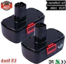 2-Pack 19.2V Battery For Craftsman C3 19.2 Volt 11375 130279