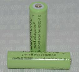 3.7v 18650 2600mAh Li-Ion Rechargeable Batteries Lithium ec