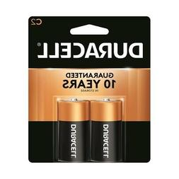 2 Pack Duracell CopperTop C Size Alkaline Batteries