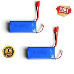 2 Pack Lipo Battery 25C 7.4V 2000mAh For Syma X8C X8W X8G Qu
