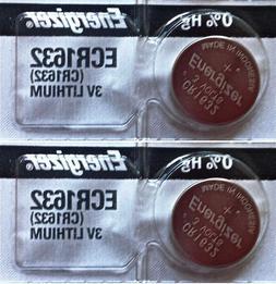 2 Piece FRESH ENERGIZER CR1632 ECR1632 1632 3V Lithium Coin