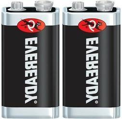 2 Eveready Super Heavy Duty 9V 9 Volt Carbon Zinc Batteries