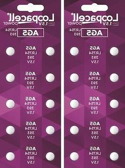 20 AG5 393 LR754 SR754 Alkaline Battery Button Cell By LOOPA
