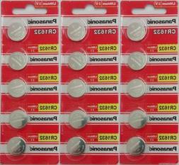 20 Panasonic CR1632 ECR1632 Lithium Battery 3V Coin Batterie
