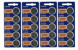 20 Genuine Sony CR2032 3v Lithium 2032 Coin Batteries Freshl