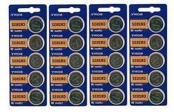 20 Genuine Sony CR2032 3v Lithium 2032 Coin Battery Freshly