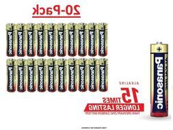 20 Pack - Panasonic AA Alkaline Batteries Factory pack -