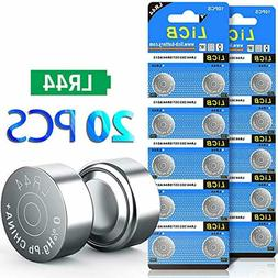 LiCB 20 Pack LR44 AG13 357 303 SR44 Battery 1.5V Button Coin
