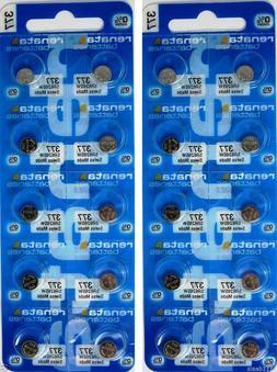 20 Pcs 377 Renata Watch Batteries SR626SW 0% MERCURY FREE SH