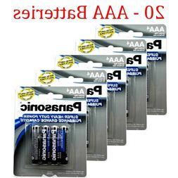 20 Wholesale Panasonic AAA Triple A Batteries heavy Duty Bat