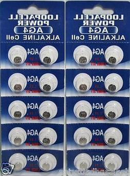20 x LOOPACELL AG4 LR626 377 1.5V Alkaline Watch Batteries