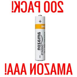 200 AMAZON AAA ALKALINE BATTERIES BASICS 1.5V BULK WHOLESALE