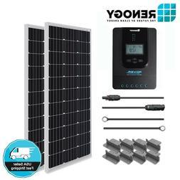 Renogy 200 Watt Solar Panel Starter Kit MPPT Off Grid Batter