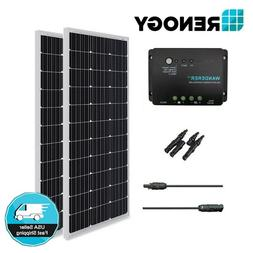 Renogy 200W 200 Watt Solar Panel 30A Controller Bundle Kit 1