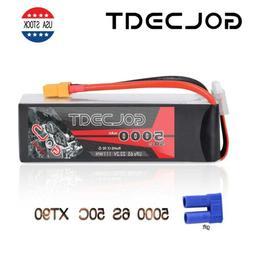 GOLDBAT 22.2V 5000mAh 6S LiPo Battery 50C XT90 for HELI PLAN