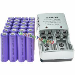 24 AA Rechargeable Batteries NiCd 2800mAh 1.2v Solar Light +