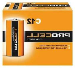 24 Pack Duracell PC1400 Procell Alkaline Size C Battery, 1.5