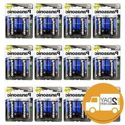 24 PCS Size D Panasonic Batteries Super Heavy Duty Power Zin