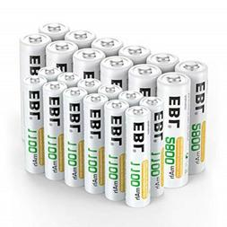 EBL 24 Sets Rechargeable Batteries (AA 2800mAh 12 Counts and
