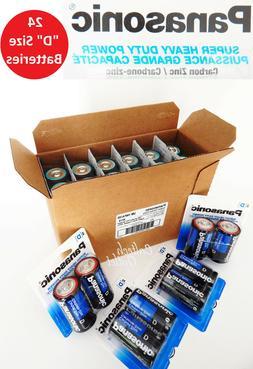 """24 x Panasonic """"D"""" Size """"D"""" Battery Batteries Super Heavy Du"""