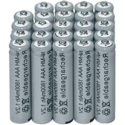 24PCS NIMH Battery 1.2V AAA 3A 1800mAh Ni-MH Rechargeable Ba