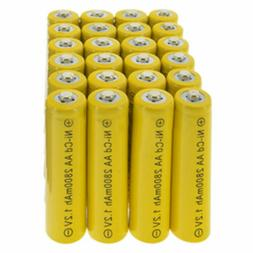 24pcs Rechargeable NiCd AA 2800mAh Ni-Cad Batteries for Sola