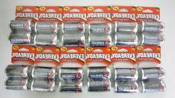 24PK Eveready Super Heavy Duty D D2 Carbon Zinc Batteries NE