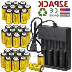 2800mAh Batteries CR123A 16340 Rechargeable Li-ion Battery S