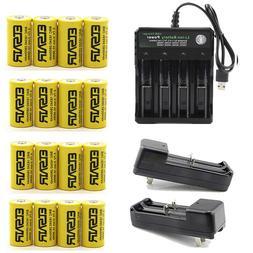 2800mAh 16340 Batteries CR123A 16340 Rechargeable Li-ion Bat