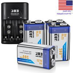 280mAh 9V 6F22 Rechargeable Ni-MH Batteries / 9 Volt Battery