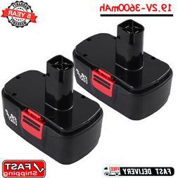2Pack 19.2V 3.6AH Ni-MH Battery for Craftsman C3 19.2 Volt 1