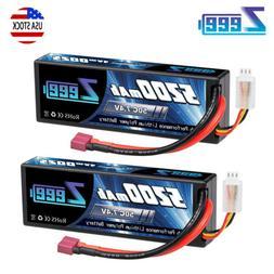 2pcs Zeee 5200mAh 50C 7.4V LiPo Battery 2S Deans Hardcase fo