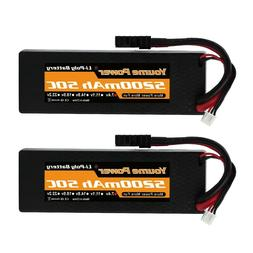 2pcs 7.4V 2S 5200mAh LiPo Battery 50C Traxxas Hardcase for R