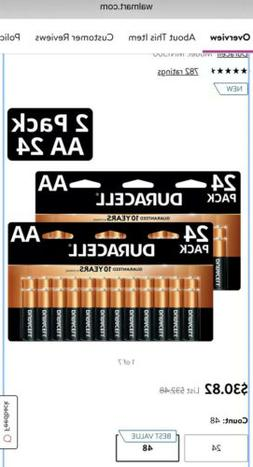 Duracell 2X Total 48 AA CopperTop Alkaline Batteries / Exp 2