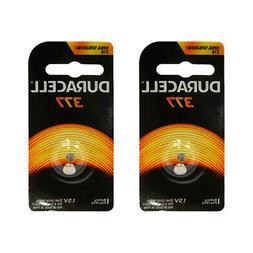 2x Duracell 377 Silver Oxide 1.5v Watch Battery D377 V377 SR
