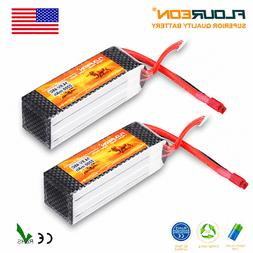 2X 4S 14.8V 2200mAh 45C LiPo RC Battery Pack T Plug for RC H
