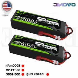 2x 8000mAh 3S 11.1V 50C Lipo Battery Pack Deans Plug For RC